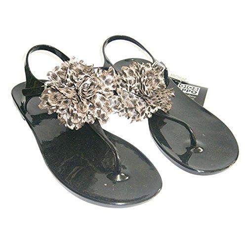 Sandali in gomma della punta Gioseppo nero taille 40