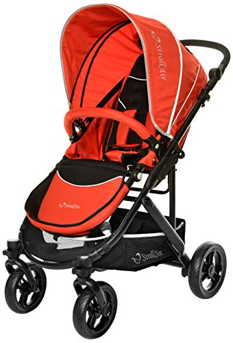 StrollAir Cosmos Single Stroller, Red - 1