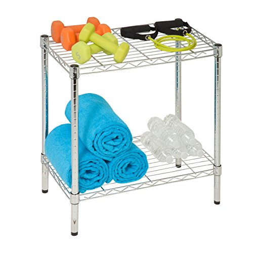 Honey-Can-Do SHF-04059 2-Tier Steel Utility Shelf, Chrome, 13.5L x 23.5W x 22.25H (Honey Can Do Shelving Unit compare prices)