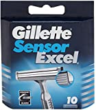 Gillette Sensor Excel for Men Refill Razor Blade Cartridges - Pack of 10