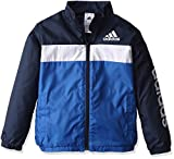 (アディダス)adidas トレーニング エッセンシャルズ ウインドブレーカージャケット (裏起毛) BVA33 [ボーイズ] AZ7419 ブルー/カレッジネイビー J160