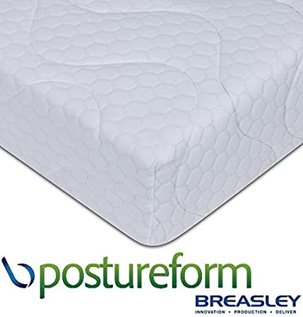 Breasley Postureform EXTRA FIRM Feel 25 cm deep Mattress wih High Density Reflex Foam, Standard Quilted Cover - EU / IKEA King Size (160X198) cm