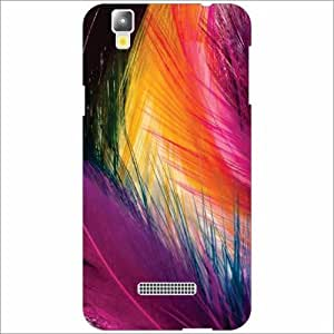 Yureka Plus Back Cover - Silicon Feather Desiner Cases