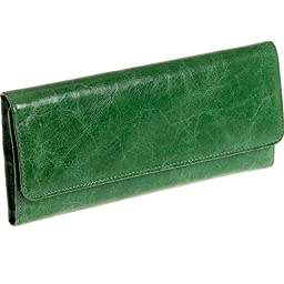Hobo Womens Leather Sadie Continental Clutch Wallet (Ivy)