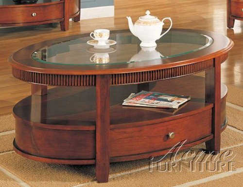 Buy Low Price Sitcom Tiber Round Coffee Table With Drawer In Brown Wood Finish Tib101 Jav