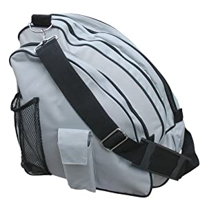 A&R Sports Deluxe Skate Bag, Silver