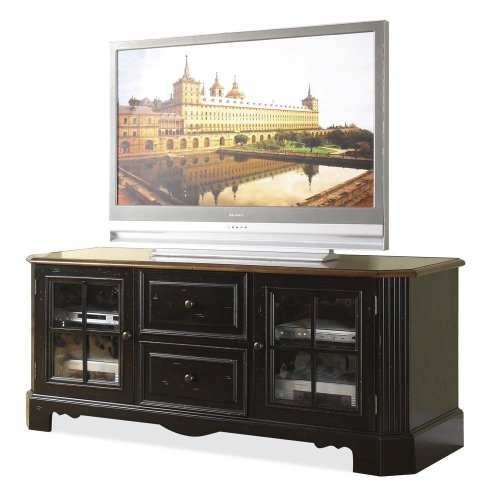 Buy Low Price Riverside Furniture Delcastle 63 Inch TV Stand in Aged Black and Antique Irish Pine (B003EKA918)