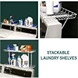 "Laundry Shelves ""STACKABLE"" Set of 2"