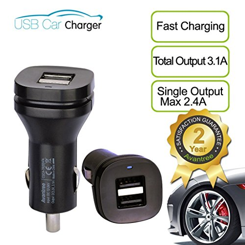 Avantree-3.1A-Dual-USB-Car-Charger