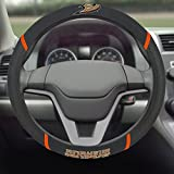 "NHL Anaheim Ducks Steering Wheel Cover, 15"" X 15""/Small, Black"
