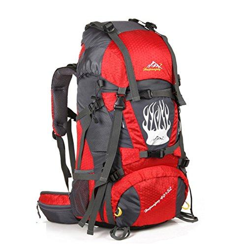 Grand sac de capacité / alpinisme sac à dos / extérieur sac de sport / sac de Voyage-rouge 60L