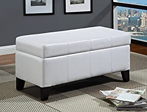 Modern faux leather bedroom storage ottoman for Cheap modern furniture amazon