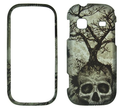 Night Skull Tree Samsung Gravity TXT T379 (T-Mobile) Case Cover Hard Phone Case Snap-on Cover Rubberized Touch Protector Faceplates (Samsung Gravity Txt T379 compare prices)