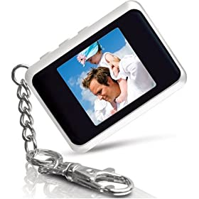 Coby 1.5-Inch Digital Photo Keychain (White)
