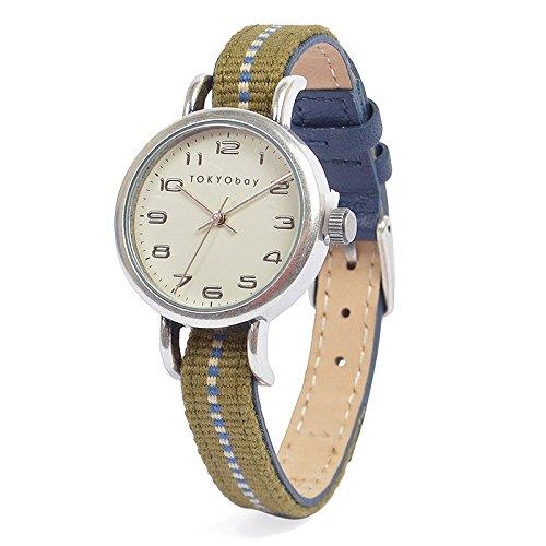 tokyobay-t394-nv-da-donna-fascia-in-nylon-bicolore-in-acciaio-inox-quadrante-bianco-smart-watch