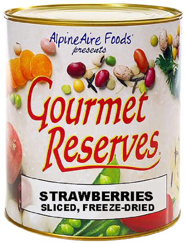 AlpineAire Foods Gourmet Reserves Freeze Dried Sliced Strawberries (10-Can) (Freeze Dried Strawberries 10 Can compare prices)