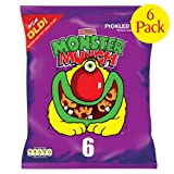 Walkers Monster Munch Pickled Onion Snacks 6x6x22g