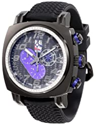 Ritmo Mundo Men's D221/1 BLK Blue Diamond Indycar Sport Quartz Chronograph Watch