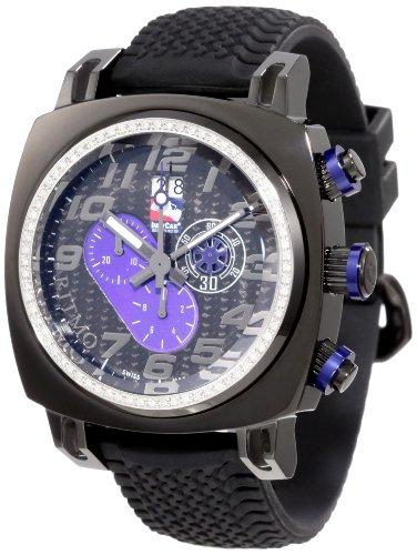 Ritmo Mundo Men'S D221/1 Blk Blue Diamond Indycar Sport Quartz Chronograph Watch