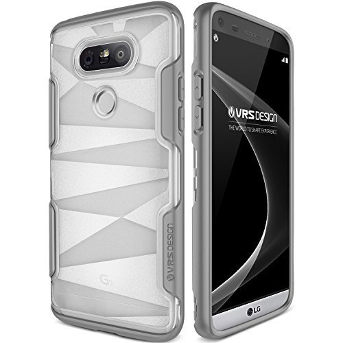 LG G5 Case, VRS Design [Shine Guard][Gray] - [Clear Frost][Rugged Protection][Low Profile][Slim Fit] For LG G5
