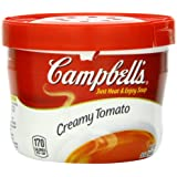 Campbell's Creamy Tomato Soup, 15.4 Ounce Microwavable Bowls (Pack of 8)
