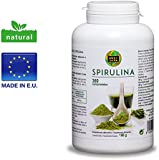 Spirulina, Comprimidos de Spirulina, Espirulina, Puro extracto, 100% puro, 360 comprimidos, alta dosis por cápsula, polvo en cápsulas, beneficios, potencia máxima, recomendada para deportistas. (360)