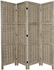 Craft Ideas  Matchsticks on Matchstick Folding Floor Screen  4 Panel Burnt Gray  Home   Kitchen