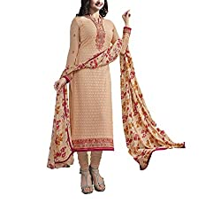 Hetal's Boutique Women's Georgette Unstitched Dress Material_76_Multicolored_Freesize