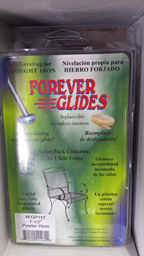 """Forever Glides; For Iron (1-1/2"""") (Qty. 24) - Pewter (24) front-995673"""