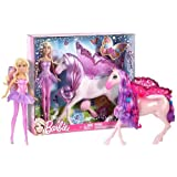 "Mattel Barbie ~11"" The Princess And The Popstar Fairy Doll And Pegasus Figure"