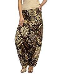 True Fashion Women's Floral Print Cotton Fashion Harem Pant - B0108748QQ