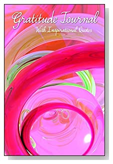 Gratitude Journal With Inspirational Quotes - Bright pink swirls will encourage daily writing in this 5-minute gratitude journal for busy people.
