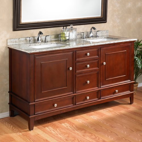 Manorhaven 60 Double Sink Vanity By Mission Hills® Furniture Modern Double  Sink Bathroom Vanity Cabinet