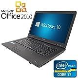 【Microsoft Office2010搭載】【Win 10搭載】東芝 L42/新世代 Core i3 2.4GHz/メモリ8GB/新品SSD 120GB/DVDドライブ/大画面15.6インチ/無線LAN搭載/中古ノートパソコン/