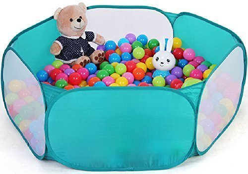 ZeleSouris-Kids-Pop-Up-Ball-Pit-Baby-Ball-Pool-Garden-Play-Tent-House-Play-Sports-Game-Toy-Children-Toddlers-Ball-Play-Pool-with-Carry-Tote-Indoor-and-Outdoor-Easy-Folding-Balls-Not-Included