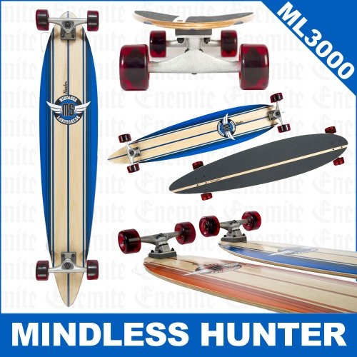 Mindless Hunter Longboard, Blue - 44 X 9