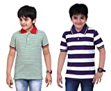 DONGLI BOYS MIND GLOWING STRIPED TSHIRT (PACK OF 2)