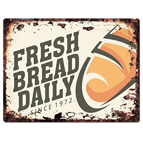 Fresh Bread Daily Chic Sign Rustic Vintage Retro Kitchen Restaurant Store Movie Room Bar Pub Coffee Shop Wall Decor 9