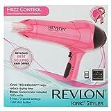 Revlon RV474 1875W Frizz Control Hair Dryer, Pearlized Pink with Black Spray