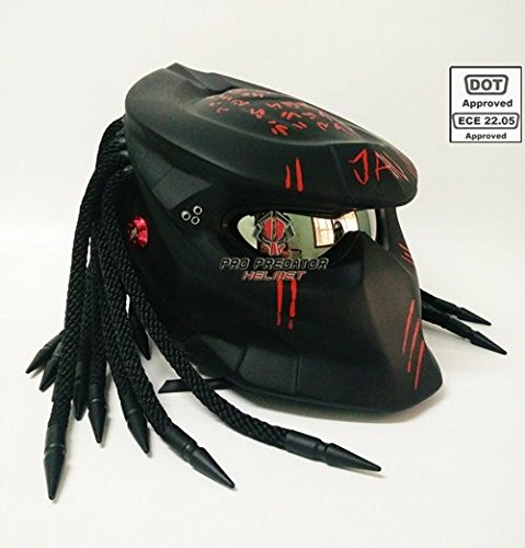 SY15 Custom Predator Motorcycle Dot Approved Helmet matt black