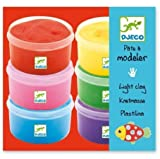 Djeco 6 Tubs of Light Modelling Clay
