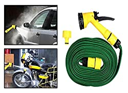 DFS's premium 10m WATER SPRAY GUN -- for Home, Bike - Car Cleaning, Gardening Plant Tree Watering - Multifunction Garden Hose