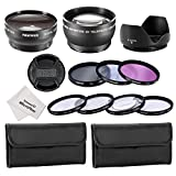 Neewer-52MM-Accessory-Kit-for-NIKON-DSLR-045X-Wide-Angle-2X-Telephoto-Lens-Filter-Kit-UV-CPL-FLD-Macro-Close-Up-Set-Tulip-Lens-Hood-Snap-On-Lens-Cap-Microfiber-Cleaning-Cloth