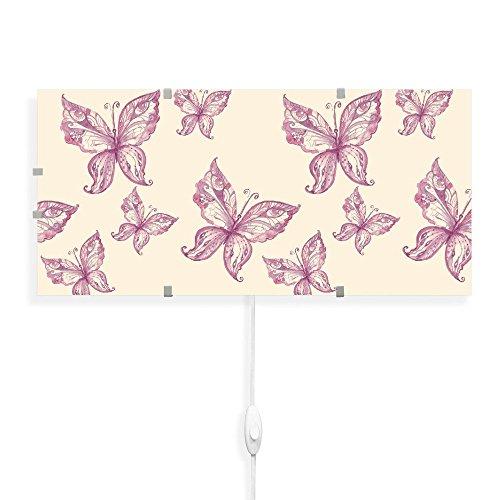 Lámpara Aplique de Pared con Diseño de Mariposas