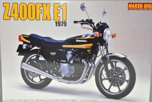 Kawasaki Z400FX E1 Schwarz Gelb 1979 044407 Kit Bausatz 1/12 Aoshima Modell Motorrad mit individiuellem Wunschkennzeichen