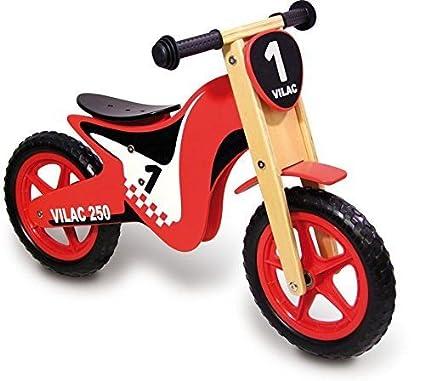 Vilac - Moto Draisienne rouge - Bois,Plastique - 1004