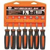 IIT 62030 SAE Nut Driver Set Hollow, 7-Piece