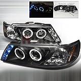 Nissan Sentra 1995 1996 1997 1998 1999 LED Halo Projector Headlights - Black