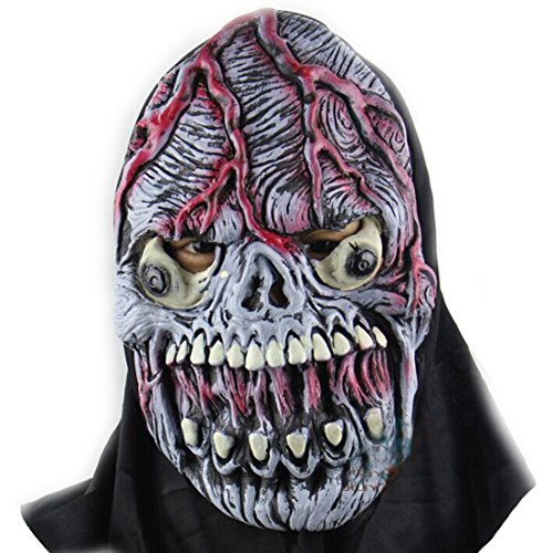 Samgo Halloween Bursting Skull Terror Ghost Latex Decoration Costume Masks