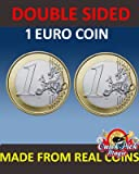 PAIR OF REAL DOUBLE SIDED 1 EURO COIN [1 Two Headed and 1 Two Tailed EURO Coin] --------- PAAR REAL BEIDSEITIG 1 Euromünzen [1 Two Headed und ein Zwei -Euro-Münze Tailed ] von QUICK PICK MAGIC